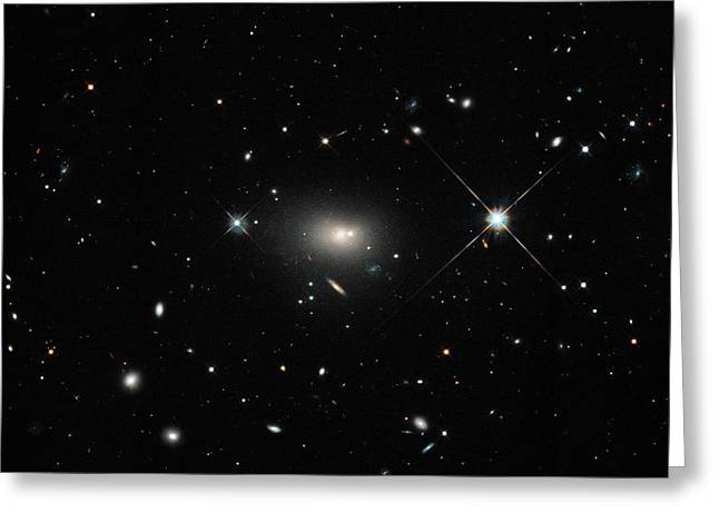 Hercules A Galaxy Greeting Card by Nasa, Esa, S. Baum And C. O'dea (rit), And The Hubble Heritage Team (stsci/aura)