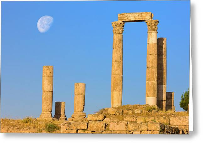 Hercules Temple, Jabal Al-qal'a, Amman Greeting Card by Keren Su