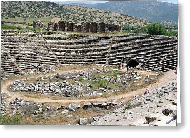Hercules Tunnel At The Stadium Of Aphrodisias Greeting Card by Tracey Harrington-Simpson