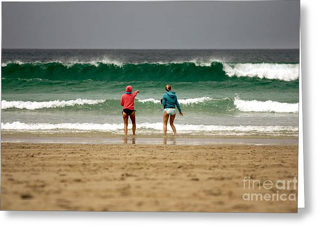 Greeting Card featuring the photograph Here Comes The Big One by Terri Waters