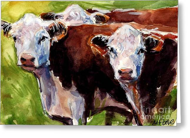 Hereford Ears Greeting Card by Molly Poole