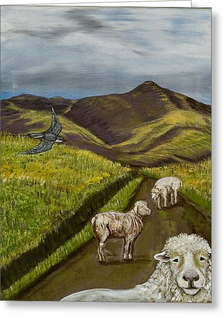 Greeting Card featuring the painting Here's Looking At You Kid by Susan Culver