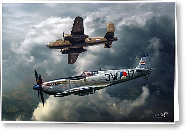 Heritage Flight Greeting Card by Peter Van Stigt