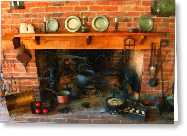 Heritage Kitchen Greeting Card by Chris Flees