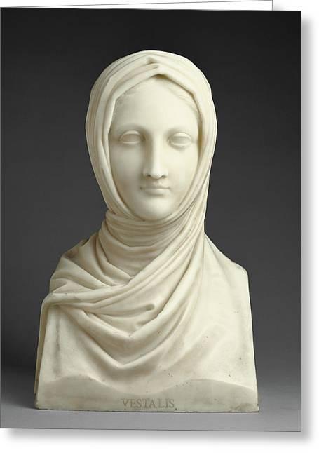 Herm Of A Vestal Virgin Antonio Canova, Italian Greeting Card by Litz Collection