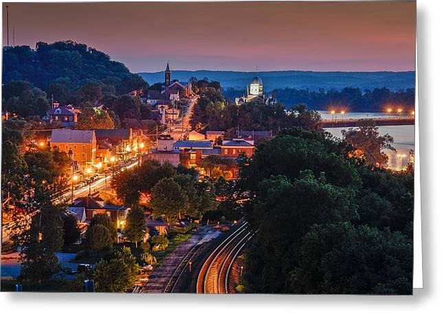 Hermann Missouri - A Most Beautiful Town Greeting Card by Tony Carosella