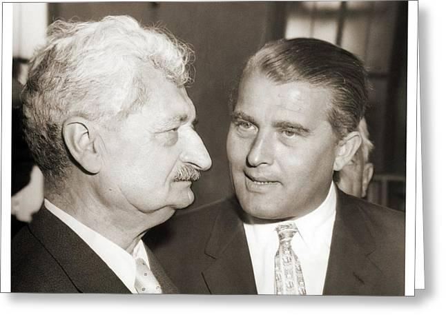Hermann Oberth And Wernher Von Braun Greeting Card by Detlev Van Ravenswaay
