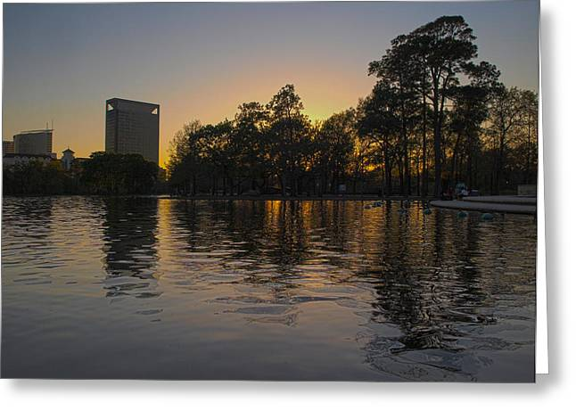 Hermann Park Sunset One Greeting Card by Joshua House