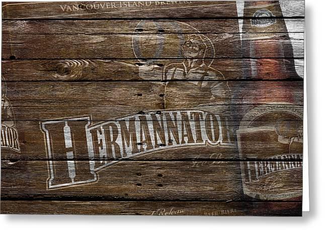 Hermannator Greeting Card by Joe Hamilton