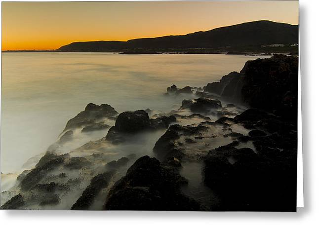 Hermanus Sunset Greeting Card by Aaron Bedell