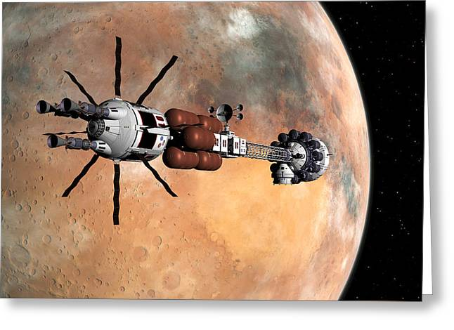 Hermes1 Mars Insertion Part 1 Greeting Card
