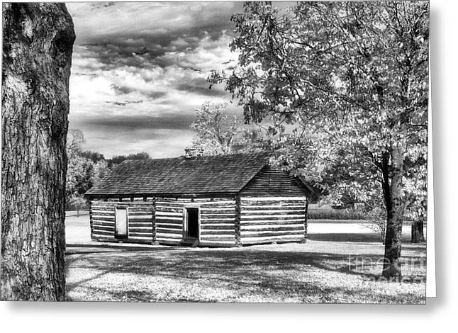 Hermitage Cabin Greeting Card by Jeff Holbrook