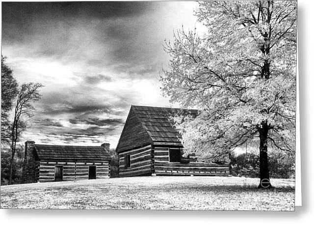 Hermitage Cabins Greeting Card by Jeff Holbrook