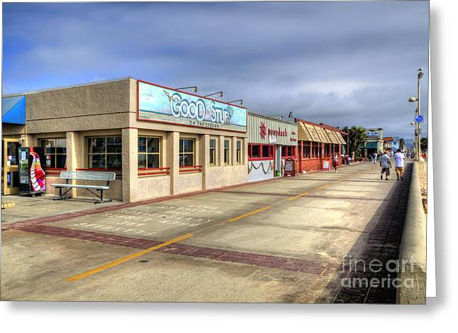 Hermosa Beach Boardwalk Greeting Card