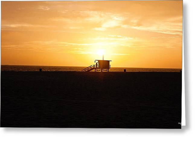 Hermosa Beach Sunset Greeting Card by Scott Pellegrin