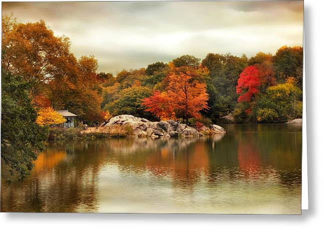 Hernshead Reflections Greeting Card by Jessica Jenney