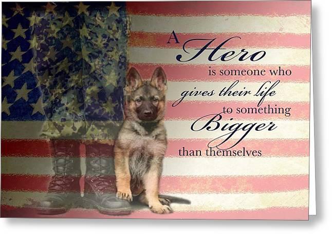 Hero Greeting Card by Kari Brooks