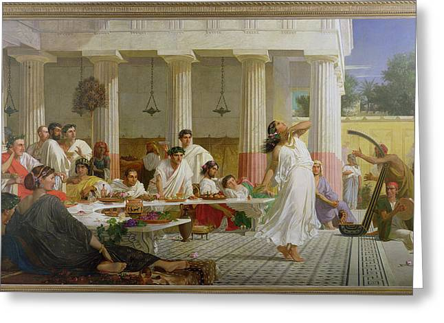 Herods Birthday Feast, 1868 Oil On Canvas Greeting Card by Edward Armitage