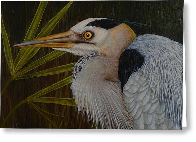 Heron In Hiding Greeting Card