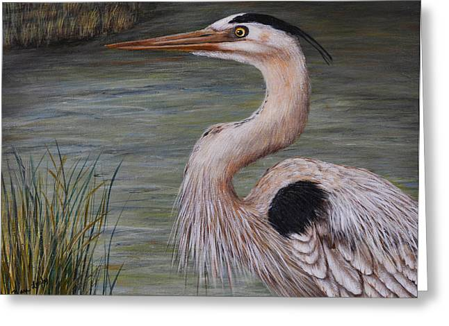 Heron Watching  Greeting Card