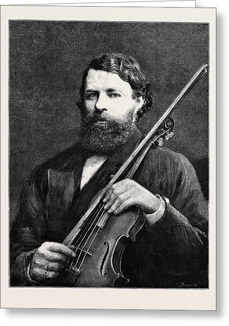 Herr Joseph Joachim, The New Doctor Of Music Greeting Card by English School