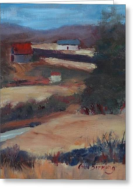 Herschel Hudson Plein Air Greeting Card by Carol Berning