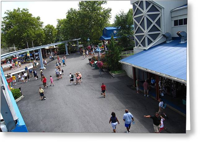 Hershey Park - 12124 Greeting Card by DC Photographer