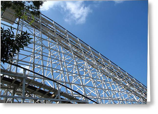 Hershey Park - Comet Roller Coaster - 12121 Greeting Card by DC Photographer