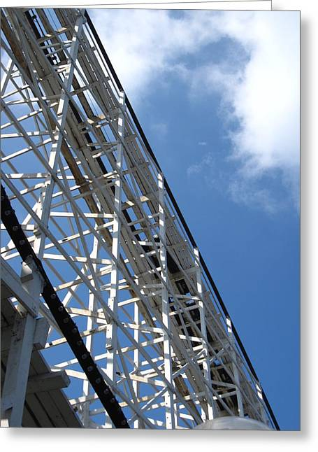 Hershey Park - Comet Roller Coaster - 12122 Greeting Card by DC Photographer