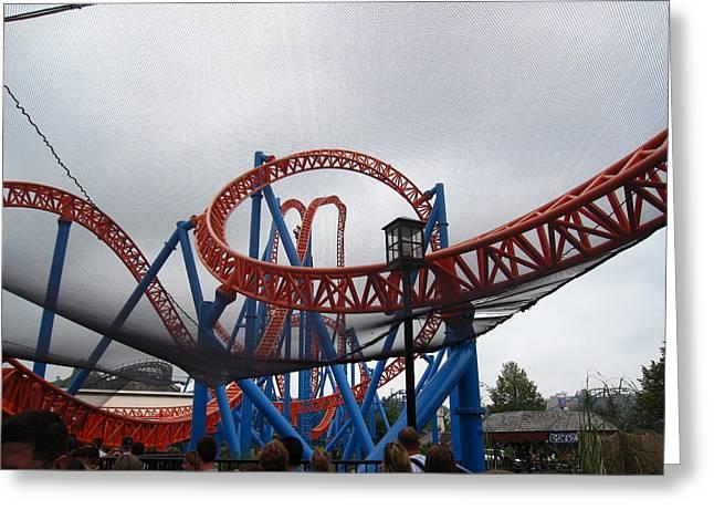 Hershey Park - Fahrenheit Roller Coaster - 12123 Greeting Card