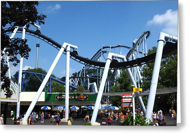 Hershey Park - Great Bear Roller Coaster - 121210 Greeting Card