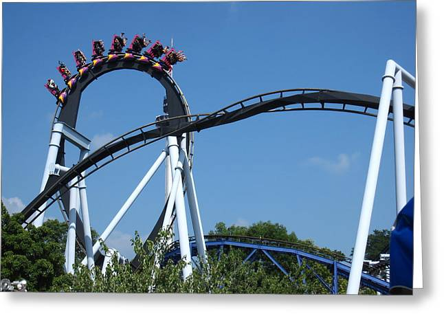 Hershey Park - Great Bear Roller Coaster - 121213 Greeting Card by DC Photographer