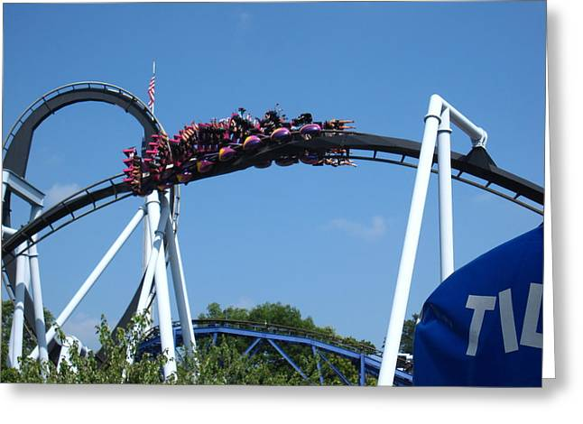 Hershey Park - Great Bear Roller Coaster - 121215 Greeting Card by DC Photographer