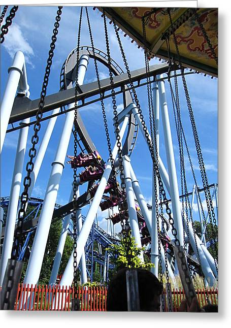 Hershey Park - Great Bear Roller Coaster - 121216 Greeting Card by DC Photographer