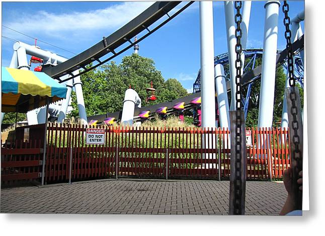 Hershey Park - Great Bear Roller Coaster - 121217 Greeting Card by DC Photographer