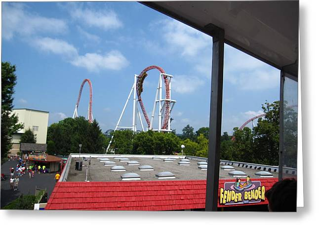 Hershey Park - Great Bear Roller Coaster - 12122 Greeting Card