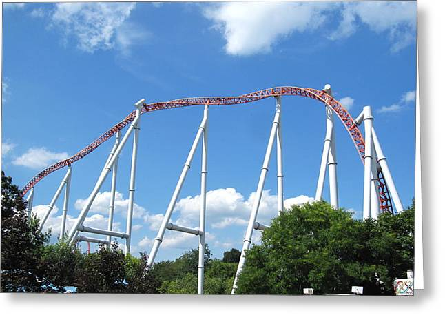 Hershey Park - Storm Runner Roller Coaster - 12126 Greeting Card by DC Photographer