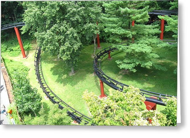 Hershey Park - Trailblazer Roller Coaster - 12121 Greeting Card by DC Photographer