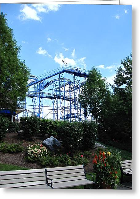 Hershey Park - Wild Mouse Roller Coaster - 12121 Greeting Card by DC Photographer