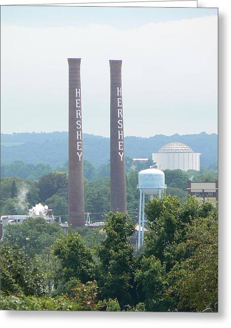 Hershey Smoke Stacks Greeting Card by Michael Porchik