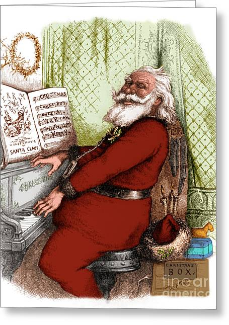 Hes A Jolly Good Fellow Santa Claus Greeting Card by Photo Researchers