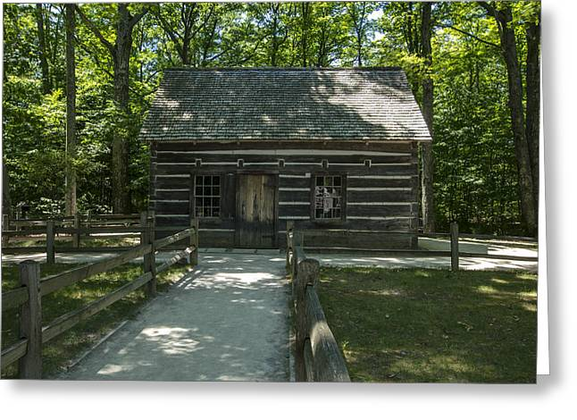 Hesler Log House #2 Greeting Card by Paul Cannon