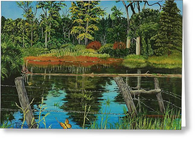Hesperus Pond Greeting Card by Timithy L Gordon