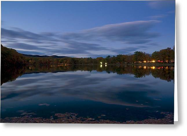 Hessian Lake Greeting Card by Mark Garbowski