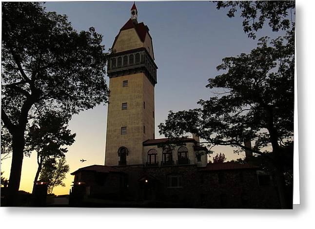 Heublein Tower Sunset Greeting Card