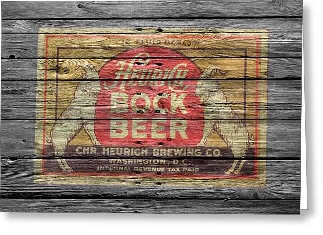 Heurich Bock Beer Greeting Card by Joe Hamilton