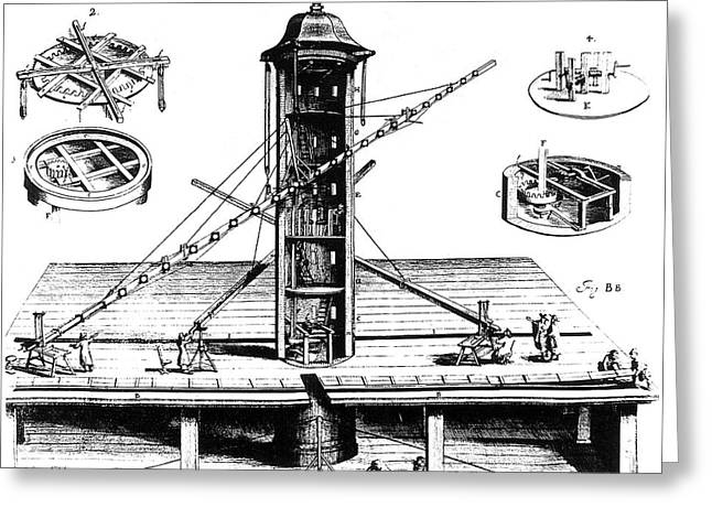 Hevelius's Plan For A Tower Observatory Greeting Card