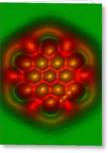 Hexabenzocoronene Molecule Greeting Card by Ibm Research