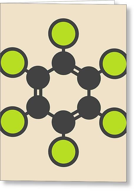 Hexachlorobenzene Fungicide Molecule Greeting Card by Molekuul