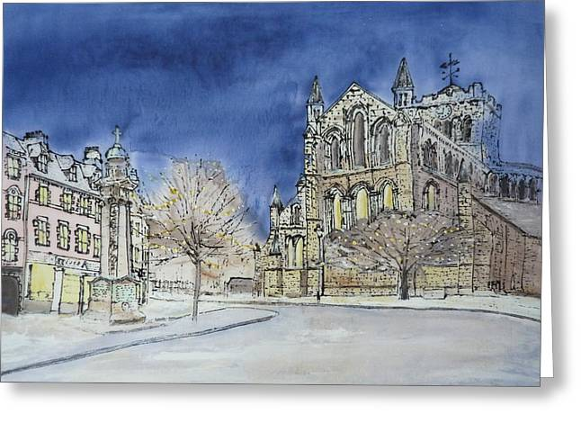 Hexham Abbey England Greeting Card